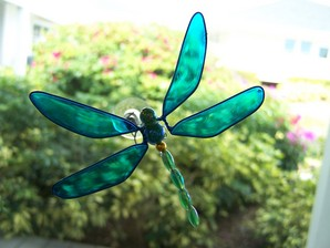 Blue Wobbler Dragonfly Suncatcher