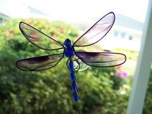 Purple Wobbler Dragonfly Suncatcher