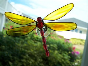 Yellow Wobbler Dragonfly Suncatcher