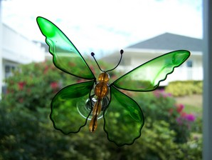 Green Butterfly Wobbler Suncatcher
