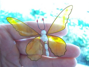 Yellow Butterfly Wobbler Suncatcher